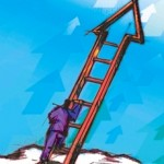career stages climbing ladder of success