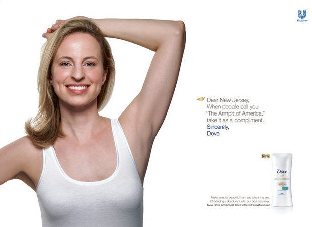Dove armpit NJ billboard concept