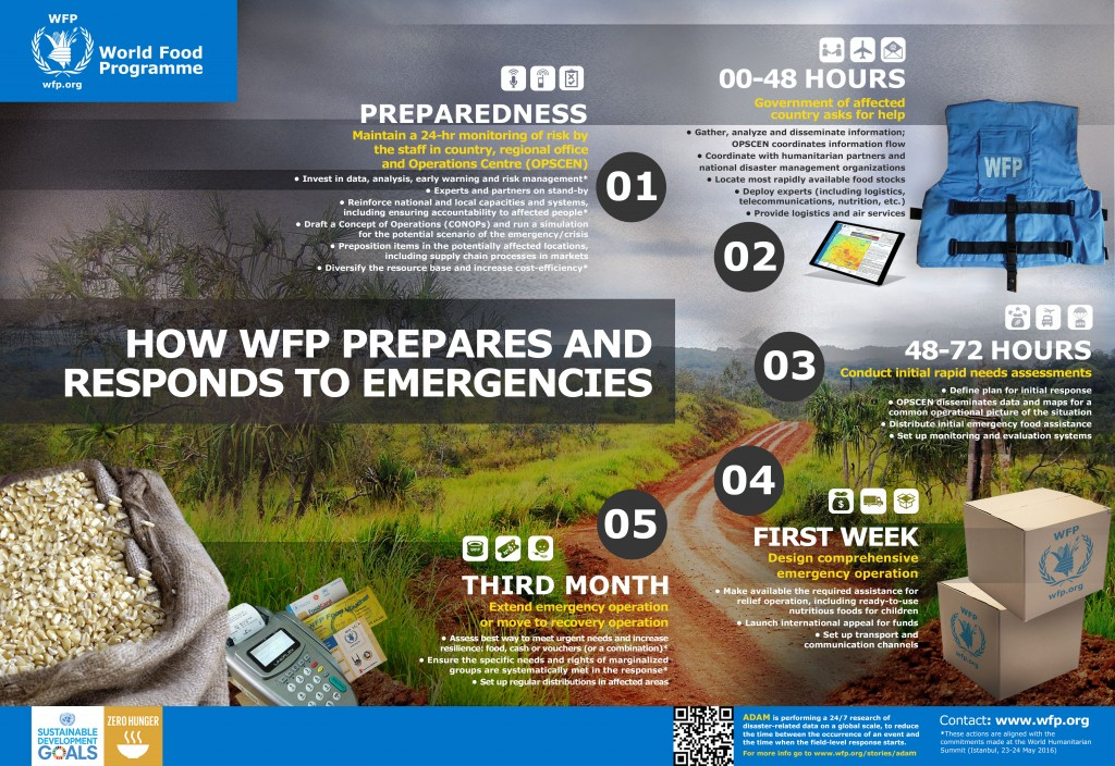 World Food Programme emergency response infographic
