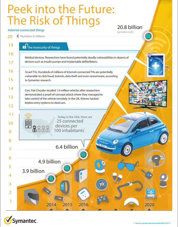 risk of things infographic symantec
