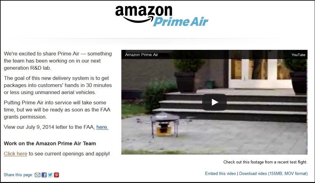 Amazon Prime Air by Lisa Chapman