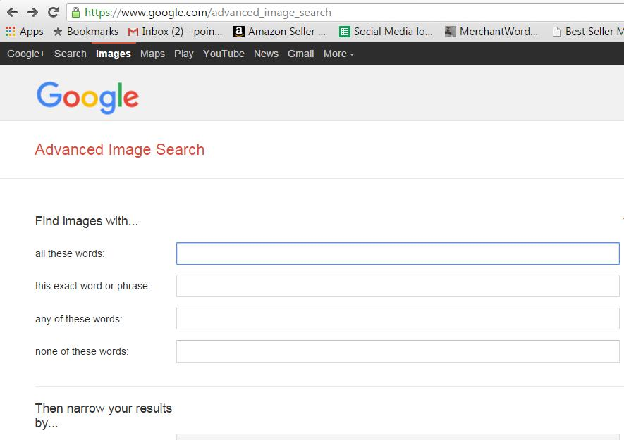 Free-to-use images and Google Advanced Image Search