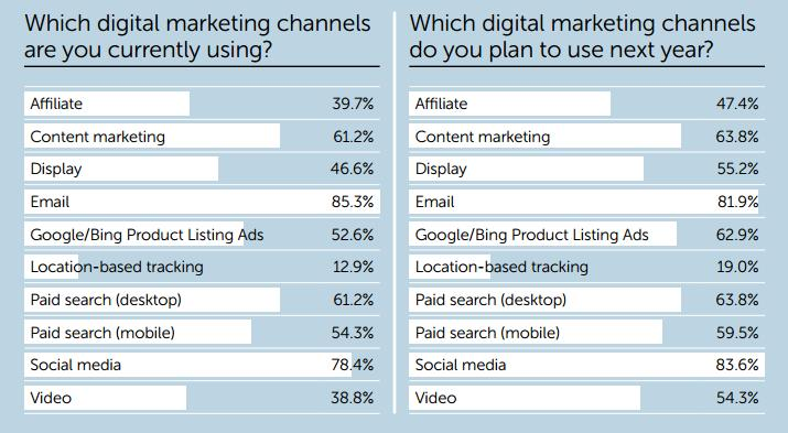 Internet Retailer Digital Channels prediction 2016