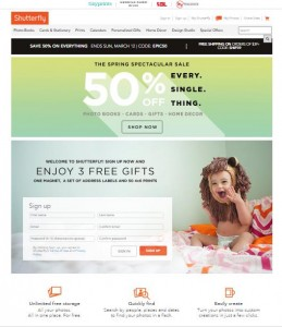 Shutterfly Responsive Design, Mobile-first index