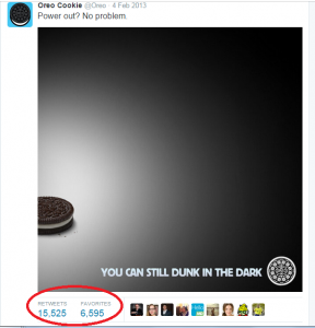 "Oreo Brand Superbowl Campaign: ""You can still dunk in the dark."""