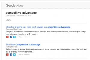 Google Alert on Competitive Advantage