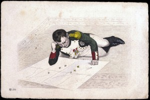 napoleon plotting strategy with map
