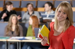 young lady in classroom