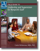 Leadership and Supervision With Nonprofit Staff - Book Cover