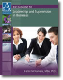 Leadership and Supervision in Business - Book Cover