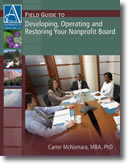 Developing, Operating and Restoring Your Nonprofit Board - Book Cover