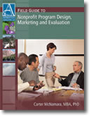 Nonprofit Program Design, Marketing and Evaluation - Book Cover